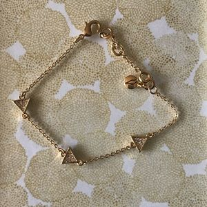 Pavé Triangle Station Bracelet